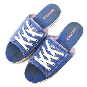 Converse Blue All Star Cut Away Slides
